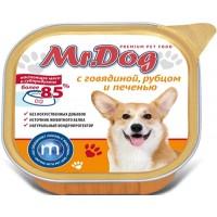 Мистер Дог кон.д/собак с Говядиной, рубцом и печенью 300 гр