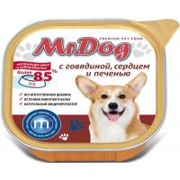 Мистер Дог кон.д/собак с Говядиной, сердцем и печенью 300 гр