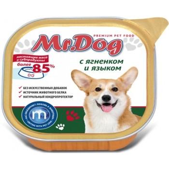 Мистер Дог кон.д/собак с Ягненком и языком 300 гр