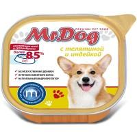 Мистер Дог кон.д/собак с Телятиной и индейкой 300 гр