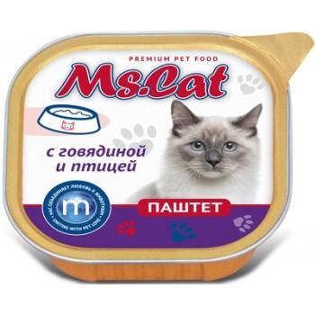 Мисс Кэт кон.д/кошек паштет с Говядиной и птицей 100 гр