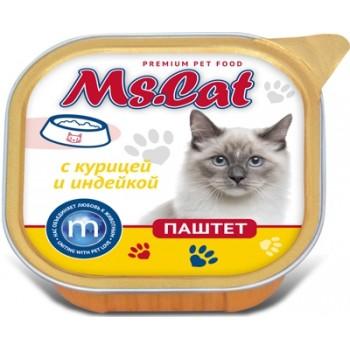 Мисс Кэт кон.д/кошек паштет с Курицей и индейкой 100 гр