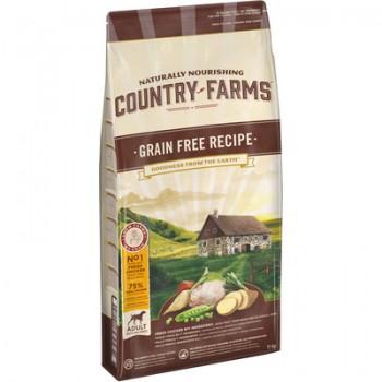 Country Farms/Кантри Фармс Беззерновой сухой корм для взрослых собак с высоким содержанием курицы, 2,5 кг