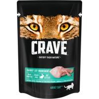 Crave / Крейв полнорационный консервированный корм для взрослых кошек, с кроликом, 70 гр