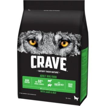 Crave / Крейв сухой корм для взрослых собак, с говядиной и ягненком, 2.8 кг