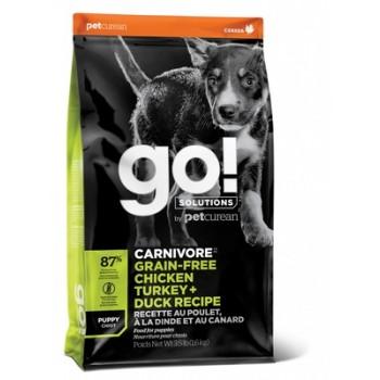 Go! / Гоу! Беззерновой для Щенков всех пород 4 вида мяса: Индейка, Курица, Лосось, Утка, 1.59 кг