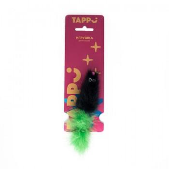 """Tappi / Таппи Игрушка """"Саваж"""" для кошек мышь из натурального меха норки с хвостом из пера марабу оп."""