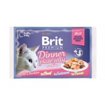 Brit / Брит Набор паучей Premium для кошек кусочки в желе, 4x85 гр