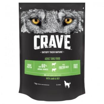 Crave / Крейв сухой корм для взрослых собак, с говядиной и ягненком, 1кг