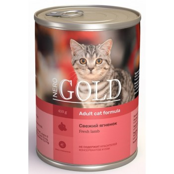 "Nero Gold / Неро Голд консервы для кошек ""Свежий ягненок"", 415 гр"
