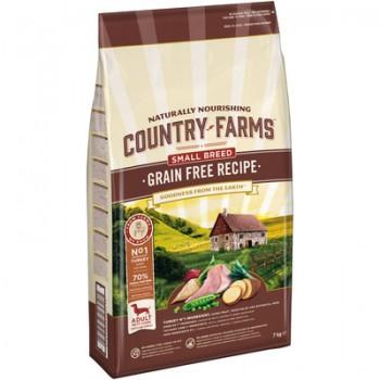 Country Farms/Кантри Фармс Сухой корм беззерновой полнорационный для взрослых собак мелких пород, с высоким содержанием индейки, 7 кг