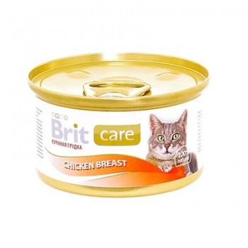 Brit / Брит Консервы для кошек из куриной грудки, 80 гр