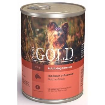 """Nero Gold / Неро Голд консервы для собак """"Говяжьи отбивные"""", 415 гр"""