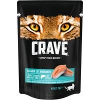 Crave / Крейв полнорационный консервированный корм для взрослых кошек, с лососем, 70 гр