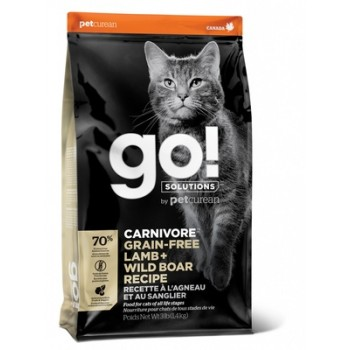 Go! / Гоу! Беззерновой для Котят и Кошек с Ягненком и мясом Дикого Кабана, 1.36 кг