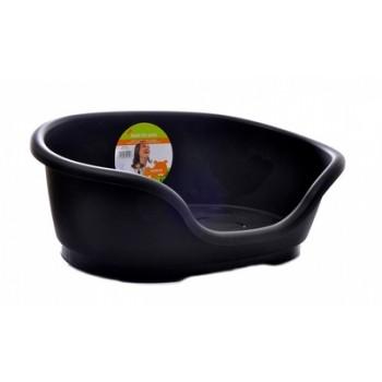 Moderna / Модерна Лежак domus пластиковый 110 см, 125х80х35, черный