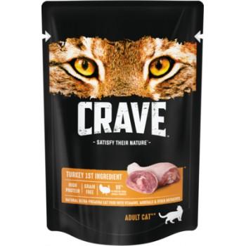 Crave / Крейв полнорационный консервированный корм для взрослых кошек, с индейкой, 70 гр