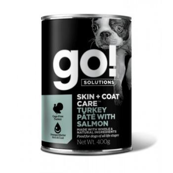 GO! / ГОУ! Консервы с индейкой и лососем для собак, 400 гр