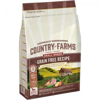 Country Farms/Кантри Фармс Сухой корм беззерновой полнорационный для взрослых собак мелких пород, с высоким содержанием индейки, 2.5 кг