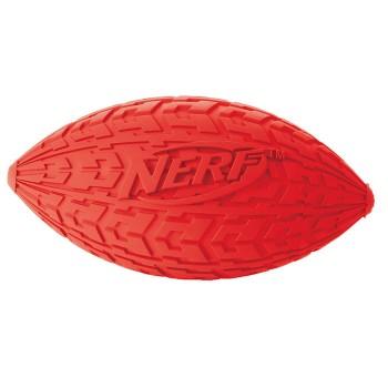 """Nerf / Нёрф Мяч для регби резиновый пищащий, 15 см (серия """"Шина"""")"""