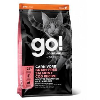 Go! / Гоу! Беззерновой для Котят и Кошек с Лососем и Треской, 1.36 кг