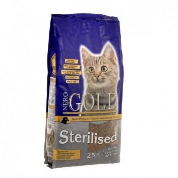 Nero Gold / Неро Голд для профилактики мочекаменной болезни у стерилизованных кошек (Cat Sterilized), 2.5 кг