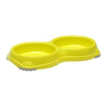 Moderna / Модерна Двойная миска нескользящая Smarty, 2*200 мл, лимонно-желтый