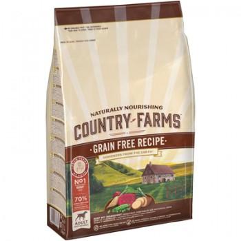 Country Farms/Кантри Фармс Беззерновой сухой корм для взрослых собак с высоким содержанием говядины, 2.5 кг