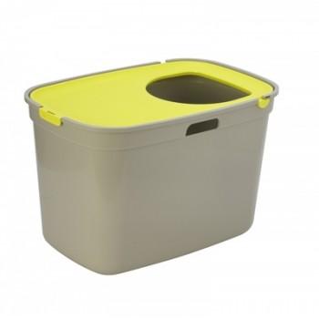 Moderna / Модерна Закрытый туалет для кошек Top cat, серый с лимонно-желтым  59 x 39 x 38 см