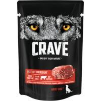Crave / Крейв полнорационный консервированный корм для взрослых собак всех пород, с говядиной, 85 гр
