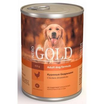 """Nero Gold / Неро Голд консервы для собак """"Куриные бедрышки"""", 415 гр"""