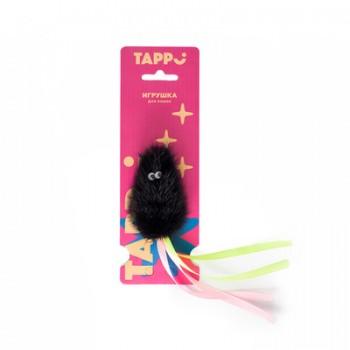 """Tappi / Таппи Игрушка """"Саваж""""  для кошек мышь из натурального меха норки с хвостом из лент оп."""