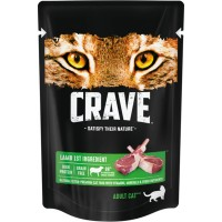 Crave / Крейв полнорационный консервированный корм для взрослых кошек, с ягнёнком, 70 гр
