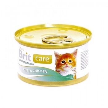 Brit / Брит Консервы для котят с курицей, 80 гр
