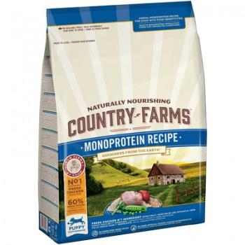 Country Farms/Кантри Фармс Сухой корм монопротеиновый полнорационный для щенков, с высоким содержанием курицы, 11 кг