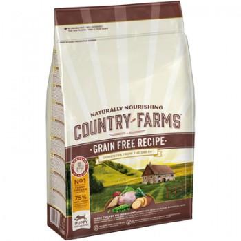 Country Farms/Кантри Фармс Сухой корм беззерновой полнорационный для щенков, с высоким содержанием курицы, 2.5 кг