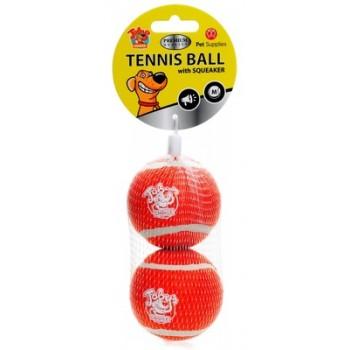 Теннисные мячики с пищалкой 7.5 см, 2 шт