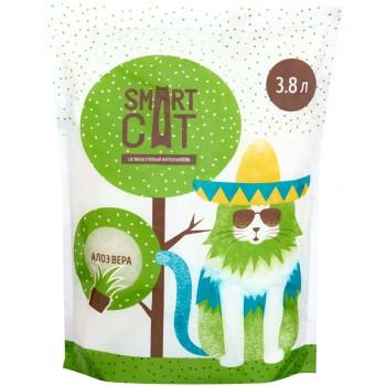Smart Cat / Смарт Кэт Силикагелевый наполнитель с ароматом алоэ, 7,6л