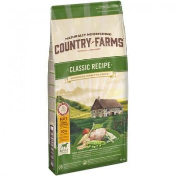 Country Farms/Кантри Фармс Сухой корм для взрослых собак с высоким содержанием курицы, 12 кг