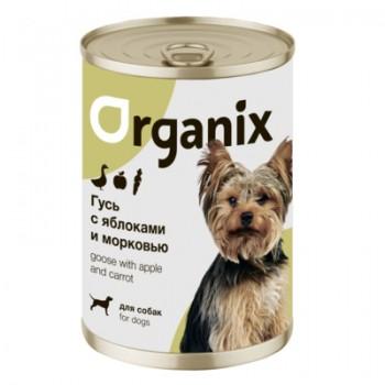 Organix / Органикс Консервы для собак Фрикасе из гуся с яблоками и морковкой, 400 гр