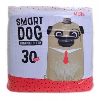 Smart Dog / Смарт Дог Впитывающие пеленки для собак 60*90, 30 шт