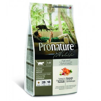 Pronature / Пронатюр Holistic Корм д/кошек, индейка с клюквой, 2,72 кг
