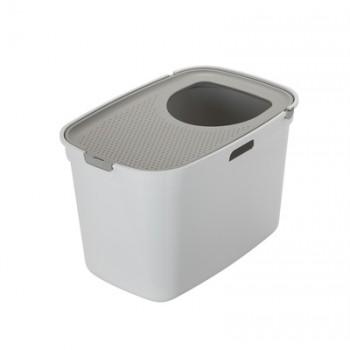 Moderna / Модерна Закрытый туалет для кошек Top cat, белый с теплым серым  59 x 39 x 38 см