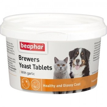Beaphar / Беафар Витаминиз. лакомство с пивными дрожжами и чесноком д/кошек и собак, 250 шт
