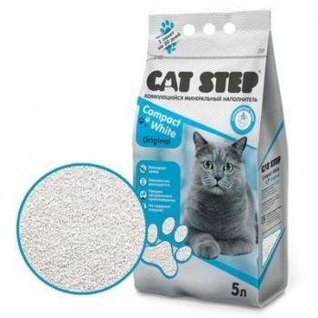 Cat Step / Кэт Степ Комкующийся минеральный наполнитель Compact White Original, 5 л
