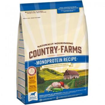 Country Farms/Кантри Фармс Монопротеиновый сухой корм для взрослых собак с высоким содержанием курицы, 2.5 кг