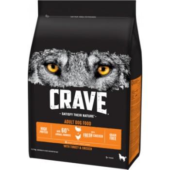 Crave / Крейв сухой корм для взрослых собак, с курицей и индейкой, 7 кг