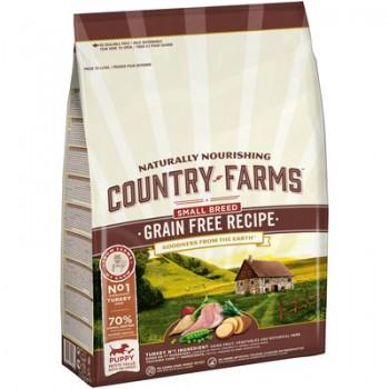 Country Farms/Кантри Фармс Сухой корм беззерновой полнорационный для щенков мелких пород, с высоким содержанием индейки, 2.5 кг