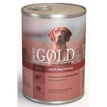 """Nero Gold / Неро Голд консервы для собак """"Печень по-домашнему"""", 415 гр"""