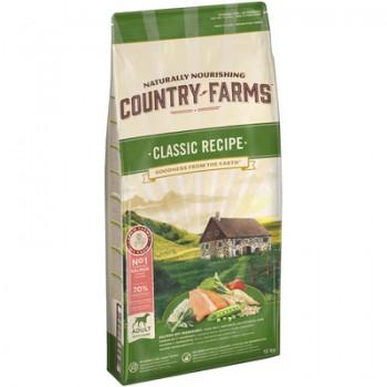 Country Farms/Кантри Фармс Сухой корм для взрослых собак с высоким содержанием лосося, 12 кг